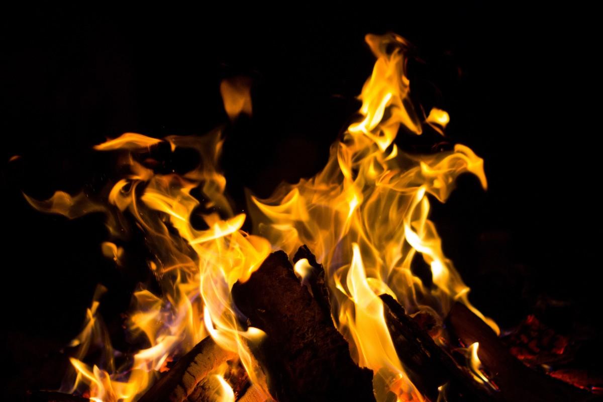 картинки желтого огня