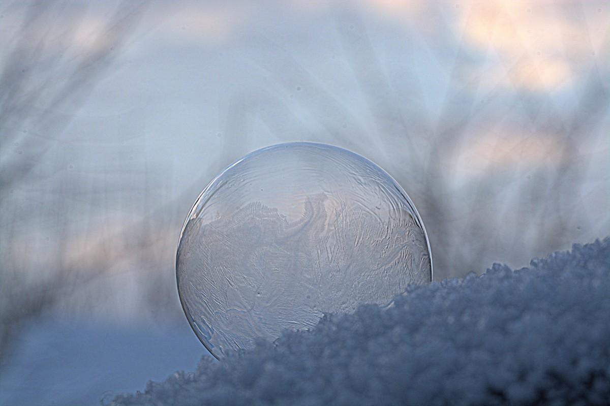 agua, nieve, frío, invierno, ligero, nube