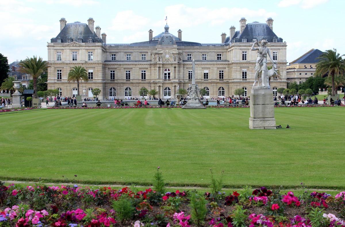 Images gratuites arbre pelouse ch teau france for Piscine jardin du luxembourg