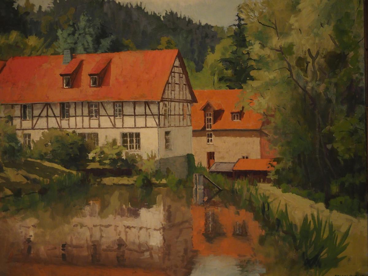 Maison Campagne : Images gratuites village l automne la peinture dessin