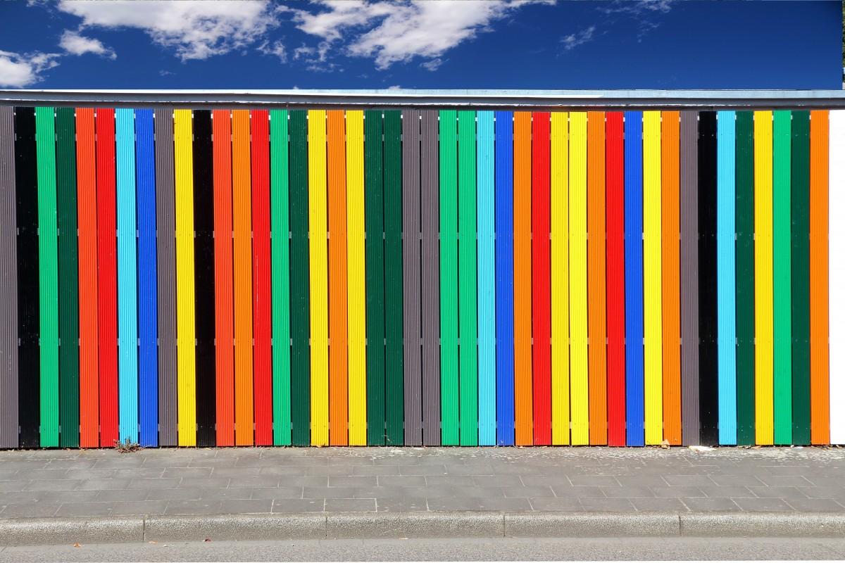 Citaten Kunst Yang Bagus : Gambar pola garis hijau warna warni kuning