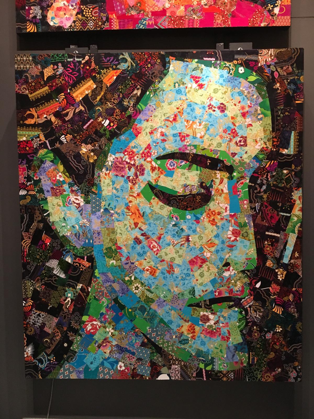 peinture de visage abstrait