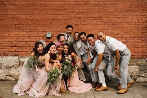 gente,flor,grupo,niña,asiático,juntos