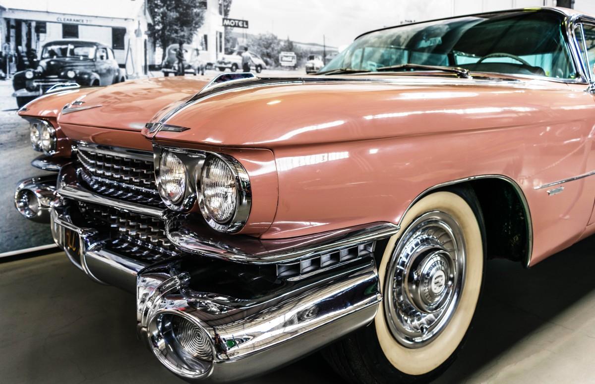 Banco de imagens carro velho ve culo eua auto rosa for American classic usa