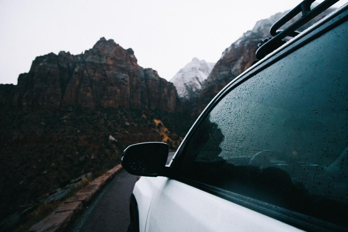 Fotos gratis coche lluvia conducci n veh culo - Espejo de viaje ...