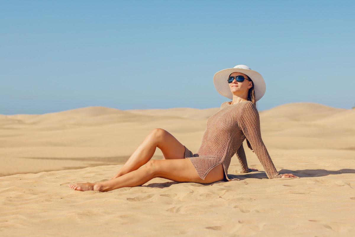 Woman posing in sun