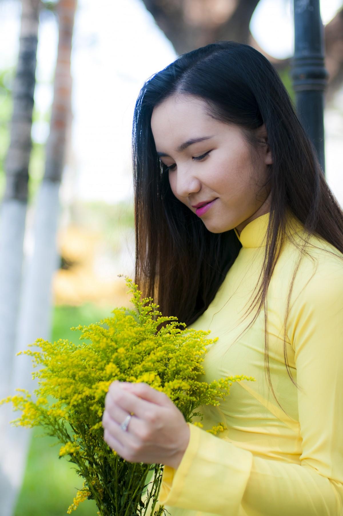 orang gadis wanita fotografi bunga potret