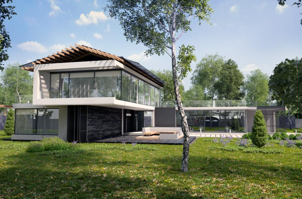 Images gratuites arbre architecture villa maison for Architecture exterieur maison