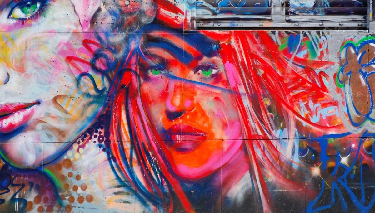 peinture de visage moderne