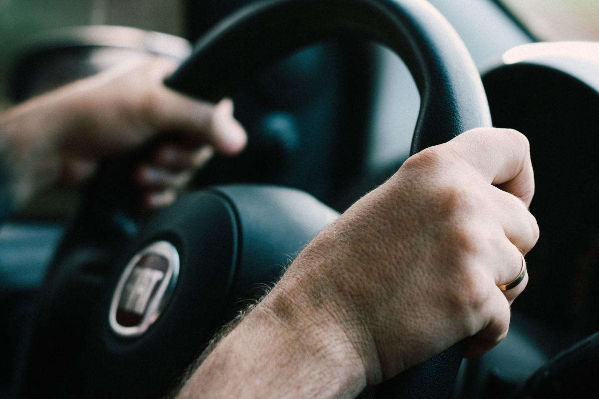 hand, driving, gadget, steering wheel, ear, arm