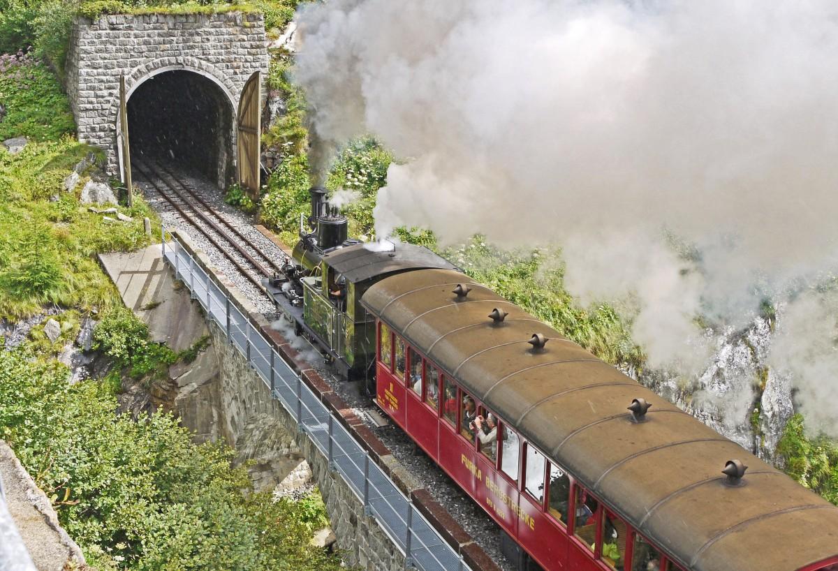 Steam Railway Furka Bergstrecke Tunnel Gateway Rack Railway Abt System Steam Locomotive Museum Train Tunnel Gates