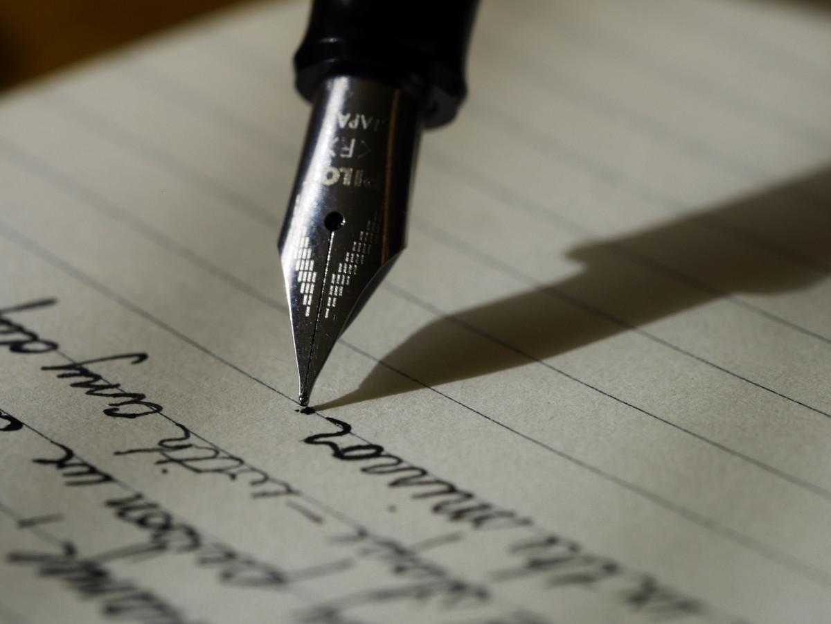 Kostenlose foto : Schreiben, Hand, Stift, schwarz, Papier-, Tinte ...