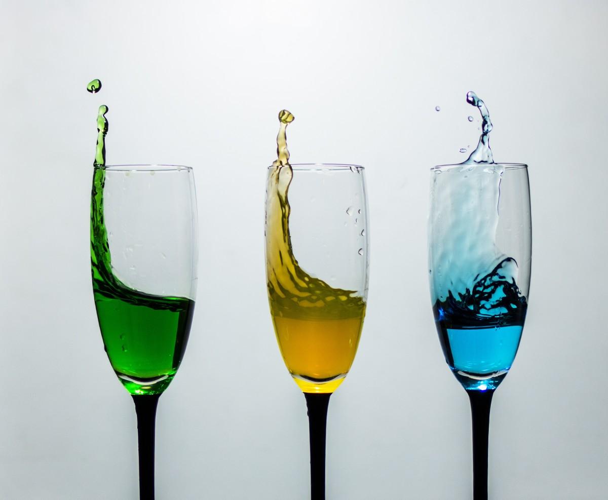 Как сфотографировать жидкость в бокале