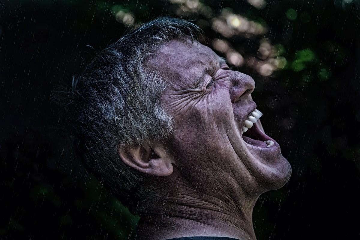 man person rain dark male portrait human darkness close cry face scream special effects