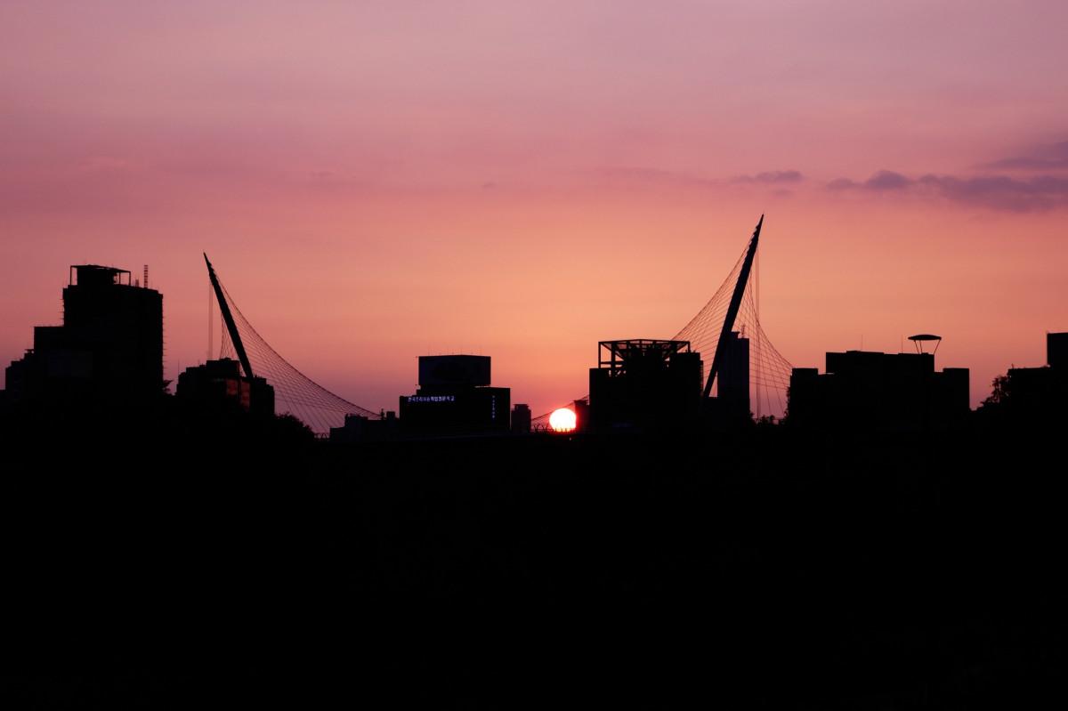 Free Images Silhouette Sun Sunrise Skyline Street