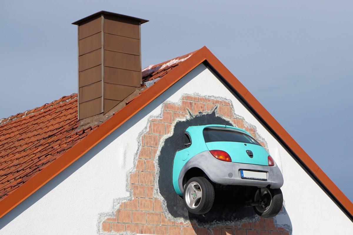 Gratis afbeeldingen het rijden muur voertuig kunst - Wand durchbruch ...
