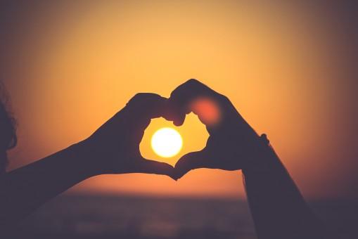 ハンド,シルエット,光,太陽,日没,日の出
