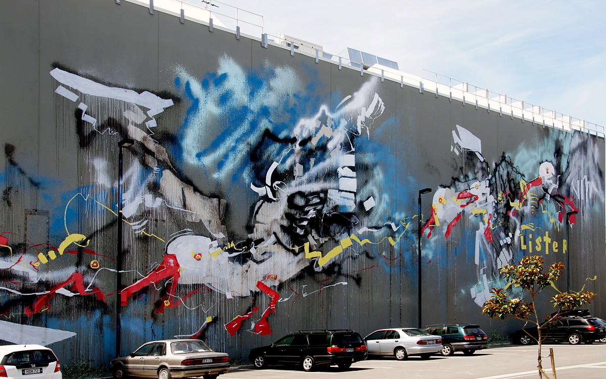 Graffiti wall christchurch - Graffiti Painting Art Festival Seagulls Mural