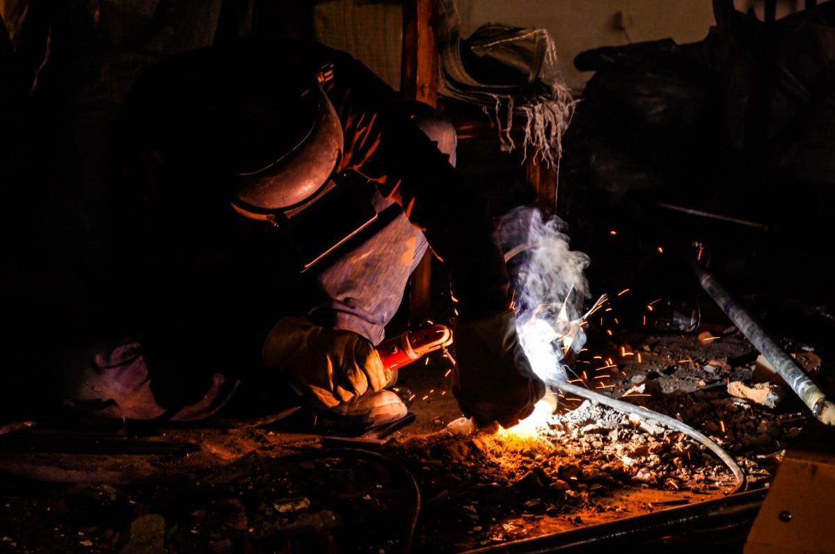 free images smoke spark vehicle metal welding blue