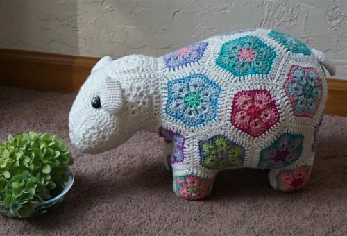Free Images : craft, colorful, yarn, elephant, crochet, textile, art
