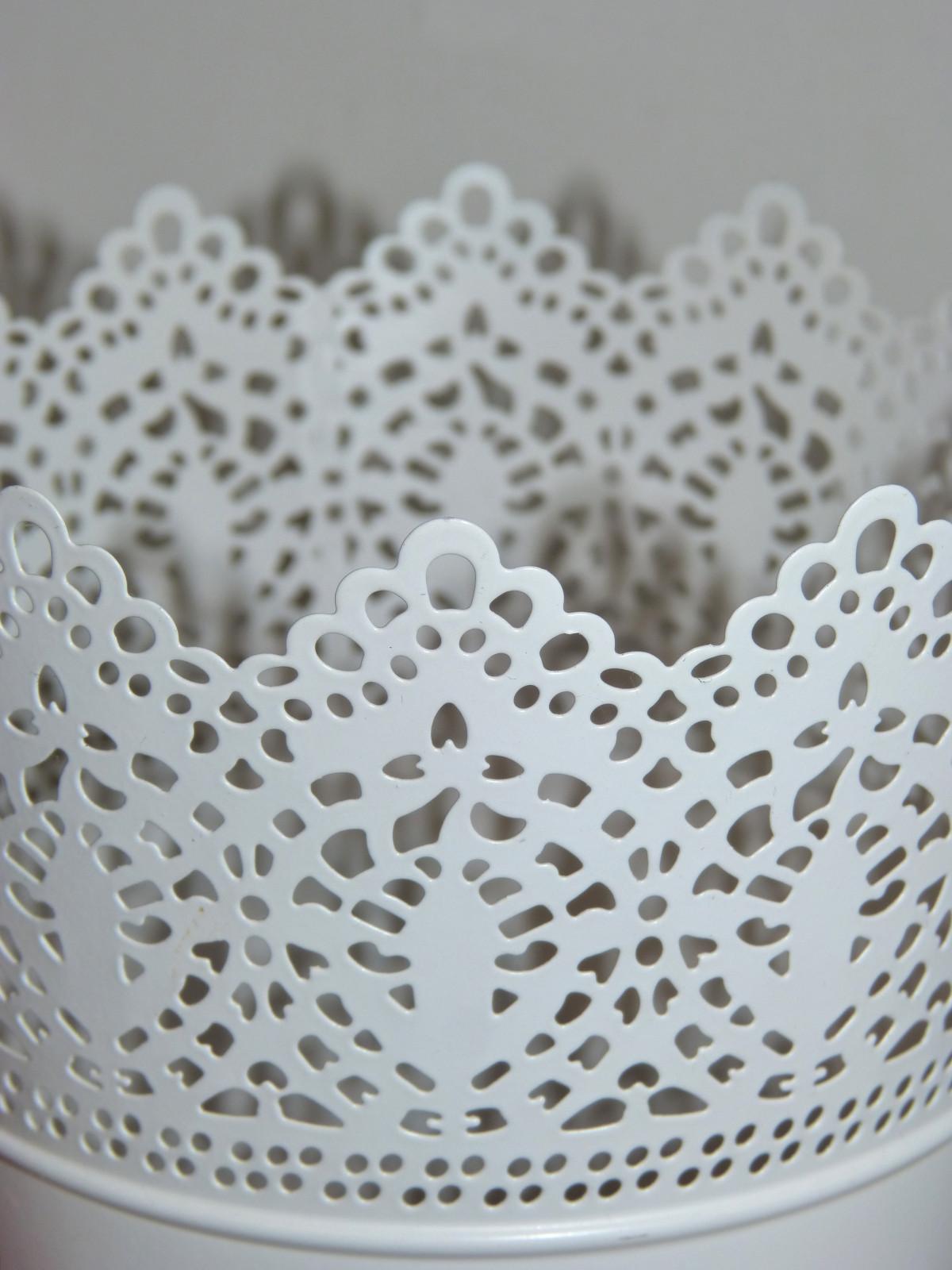 Kostenlose Foto Weiß Textur Muster Spitze Material Tischdecke