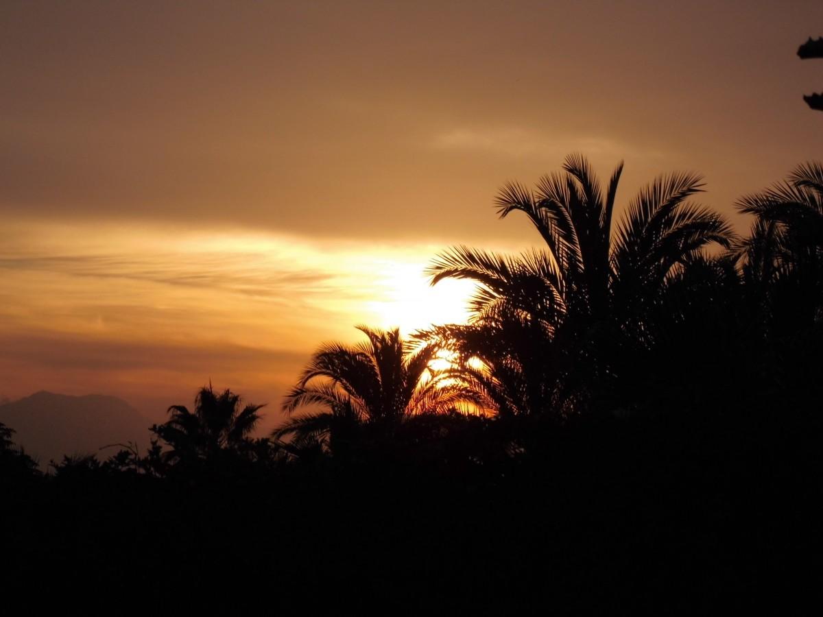 fiery glow burning sunset - photo #48