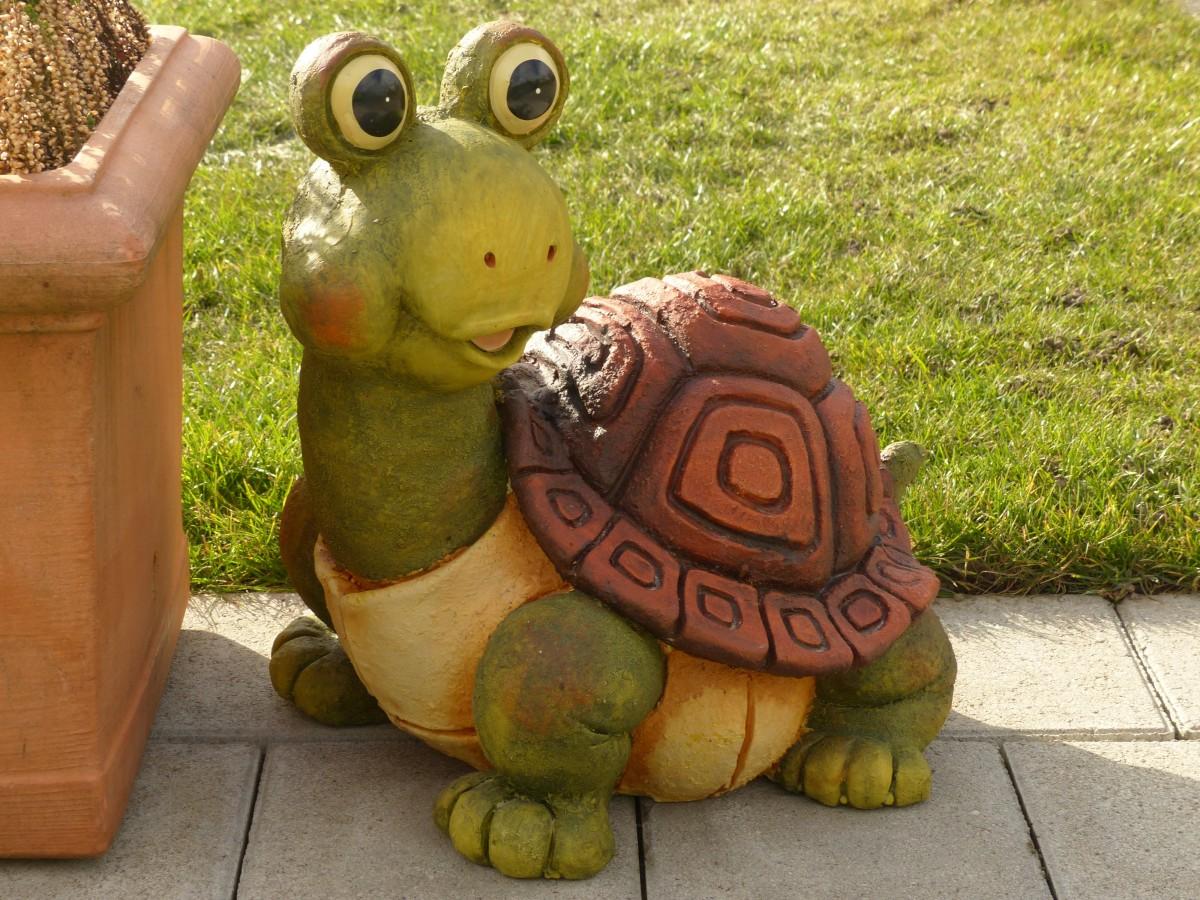 Как сделать черепаху своими руками для сада из цемента 23