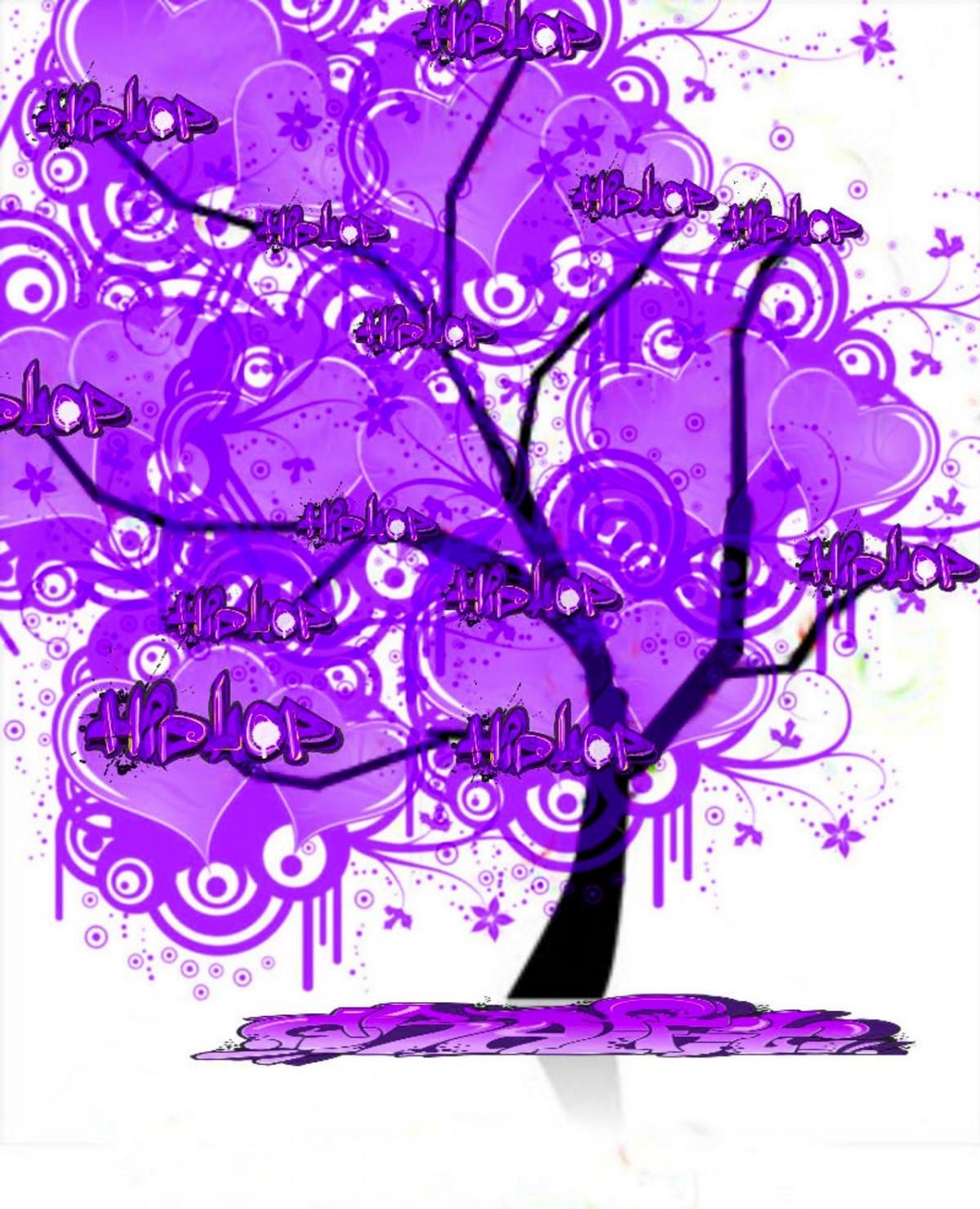 images gratuites arbre fleur violet mod le ligne fleurs police de caract re art. Black Bedroom Furniture Sets. Home Design Ideas