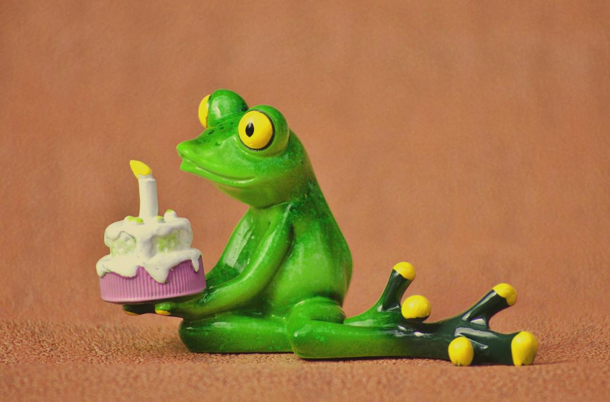 Лягушка поздравление открытка