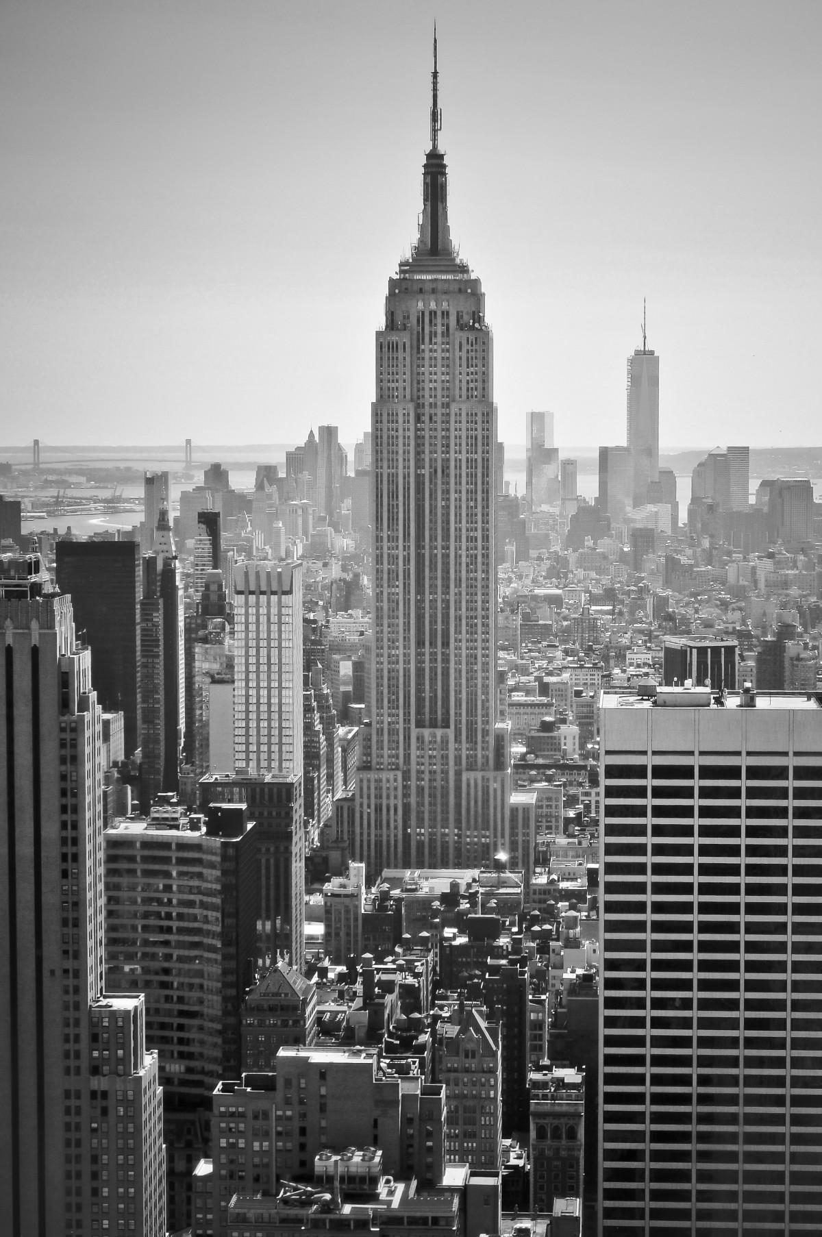 New York City Urban Garden: Free Images : Black And White, Architecture, Skyline