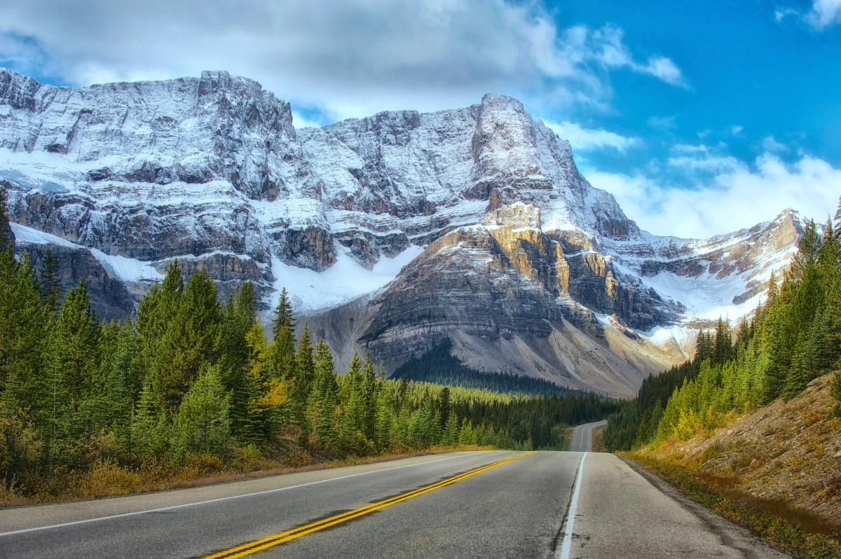 images gratuites paysage montagne neige route autoroute vall e cha ne de montagnes. Black Bedroom Furniture Sets. Home Design Ideas