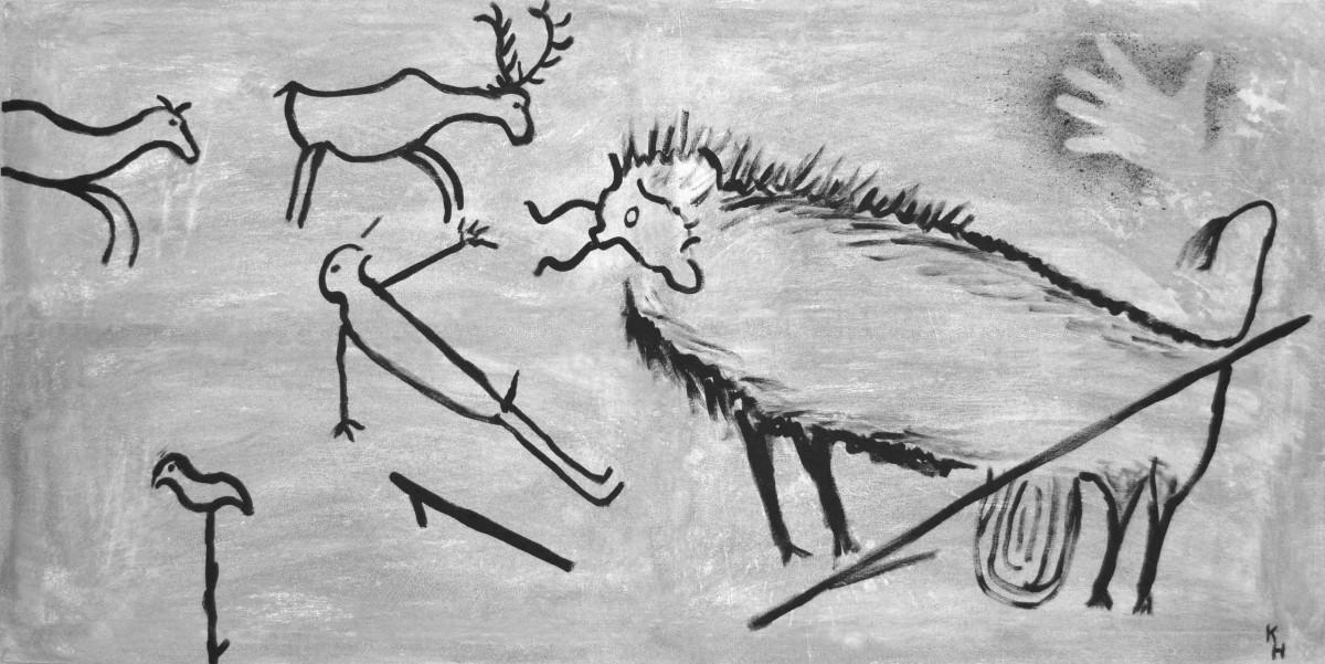Images gratuites abstrait animal la grotte la for Dessin mural peinture