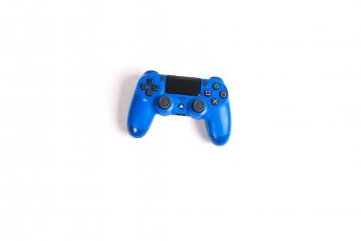 Gambar : pengontrol permainan, Permainan konsol rumah aksesori, biru, Joystick, playstation ...