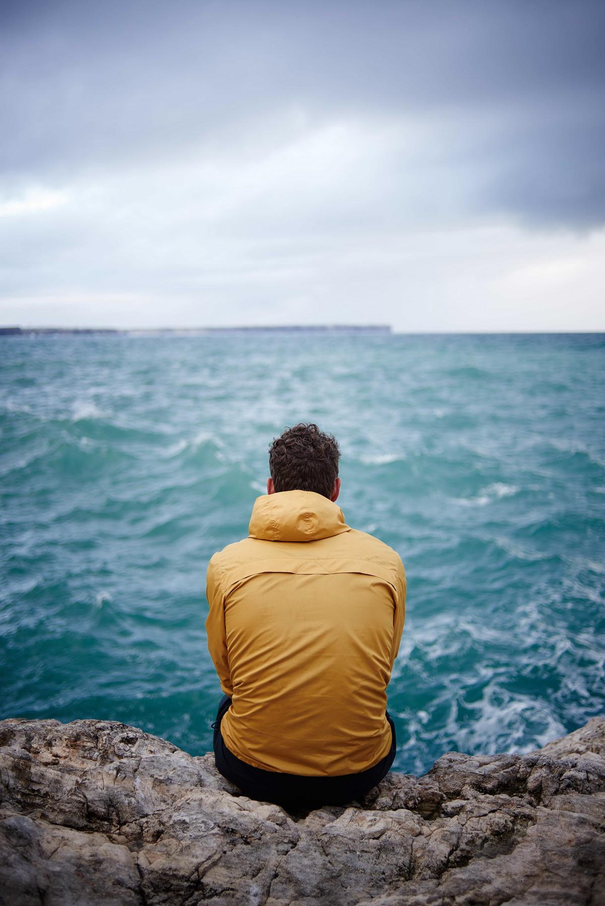Free Images : man, beach, sea, coast, sand, rock, ocean ...