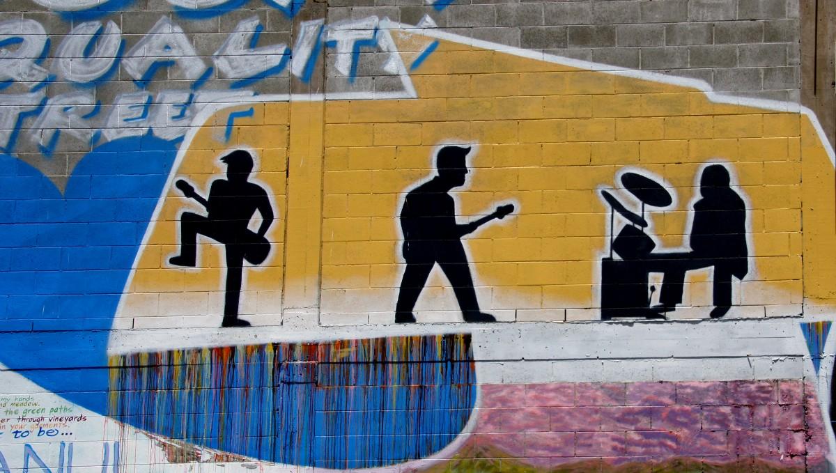 Graffiti wall christchurch - Street Wall Color Blue Graffiti Street Art
