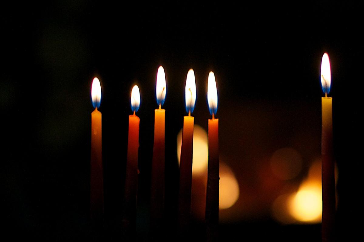light bokeh night flame darkness candle lighting hannukah hanukkah