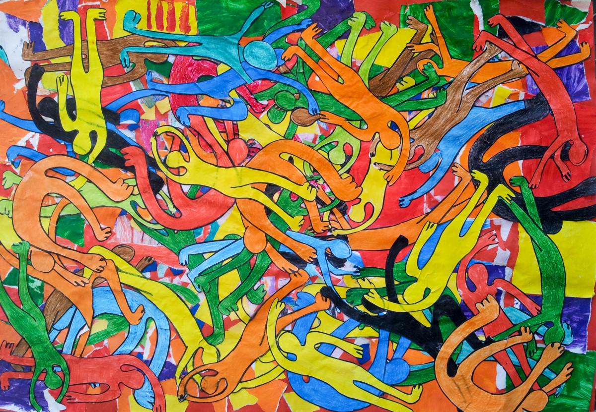 graffiti map art illustration recycling visual art modern art comic book psychedelic art child art