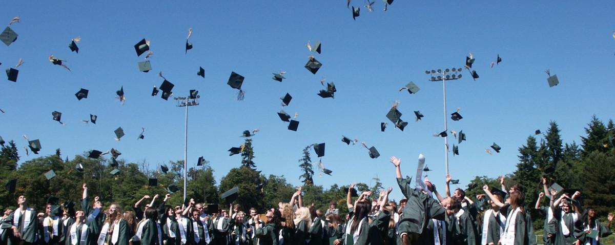 multitud estudiante educación gorra graduado adolescente graduación diploma éxito logro escuela secundaria