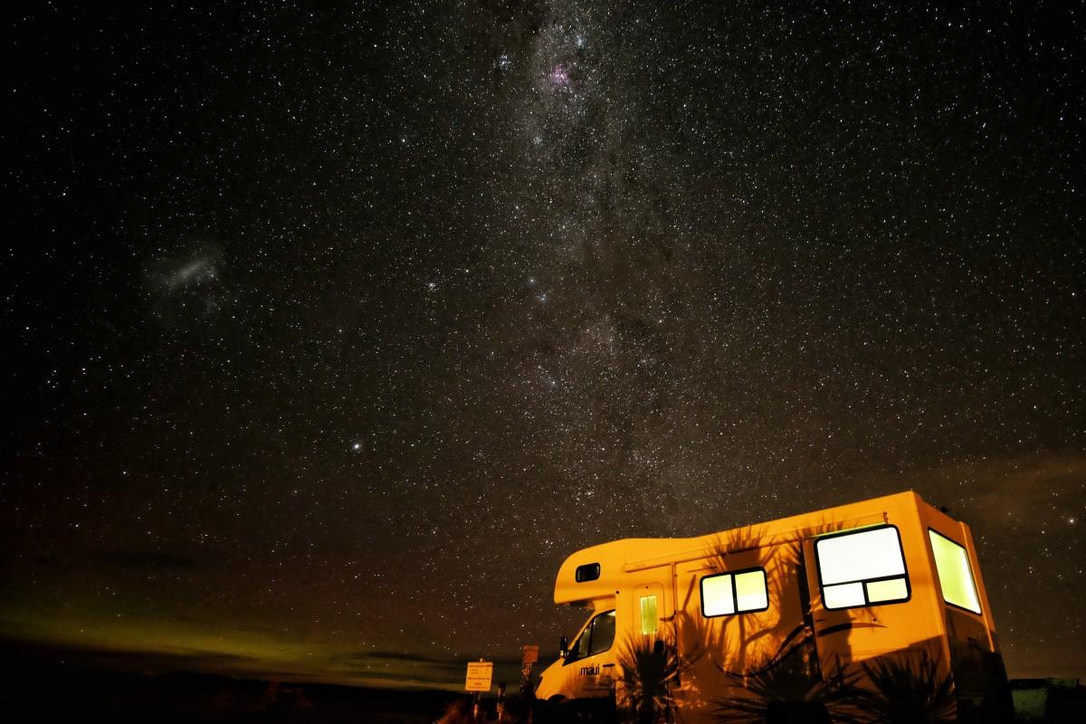 nuit, étoile, atmosphère, espace, galaxie, camping, cosmos, astronomie, camping car, minuit, Rv, Objet astronomique
