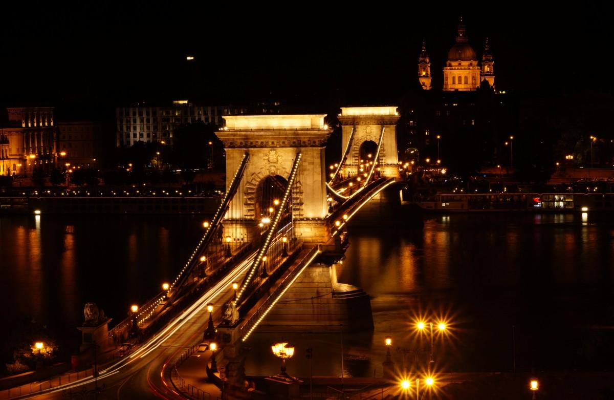 light architecture bridge skyline night city & Free Images : horizon light architecture sky skyline night ... azcodes.com