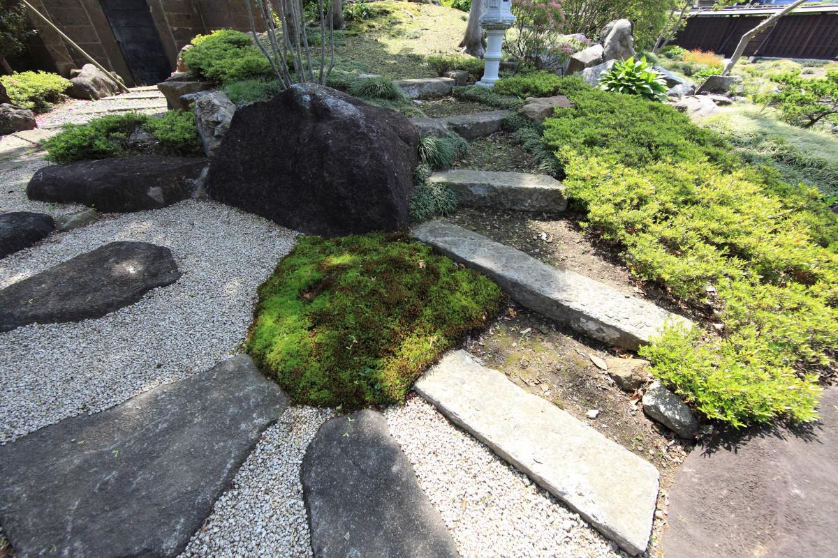 free images landscape grass rock lawn cobblestone walkway