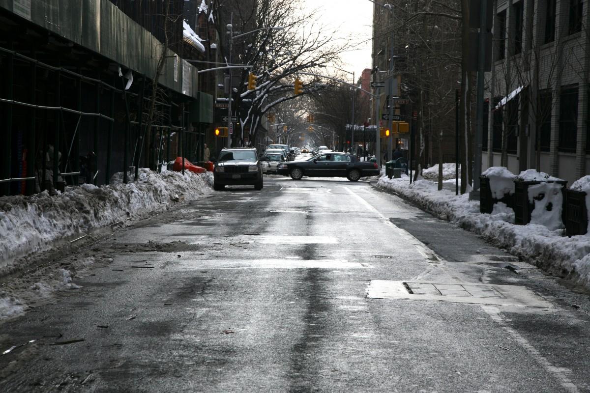 winter city lane with - photo #20