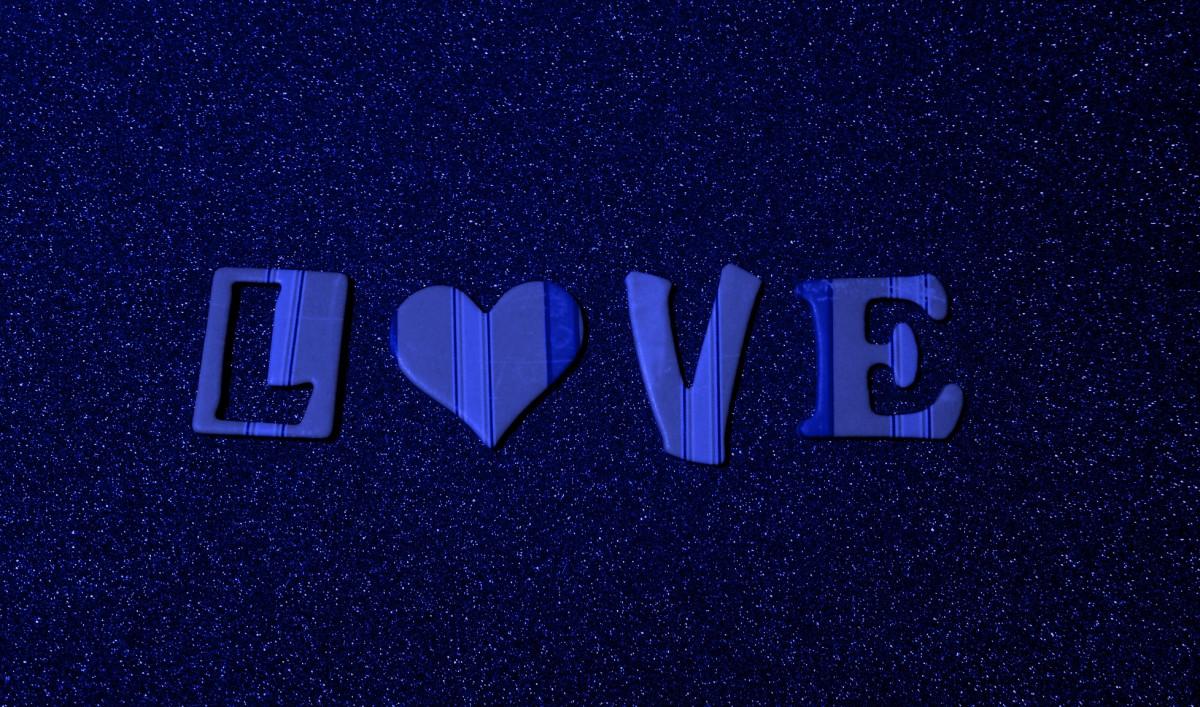 Gambar Tekstur Jumlah Cinta Jantung Percintaan Romantis Biru