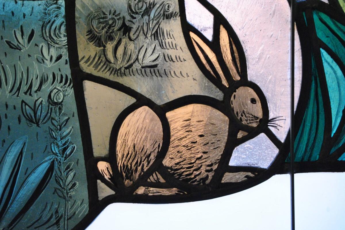 картинки зайца на стекло собой представляет стиль
