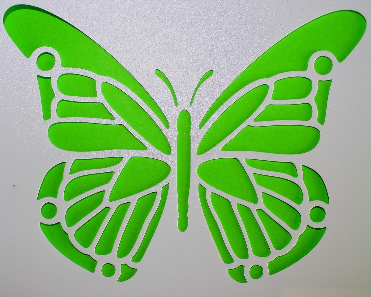 Как сделать трафарет бабочки фото