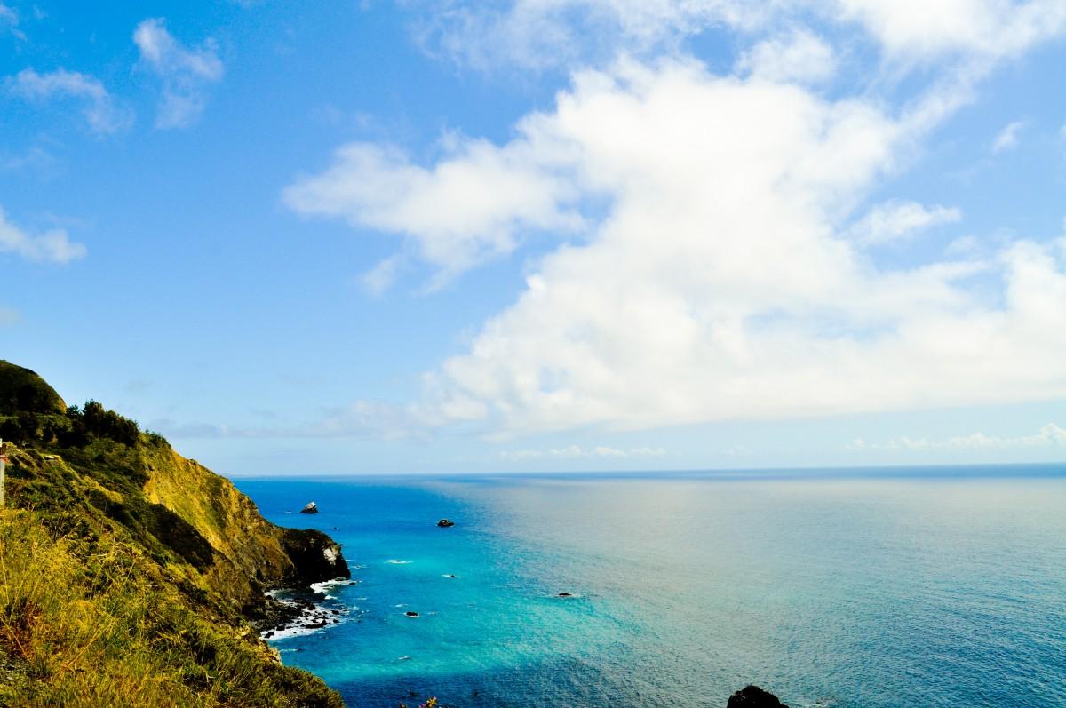 blue ocean clouds scenic - photo #10