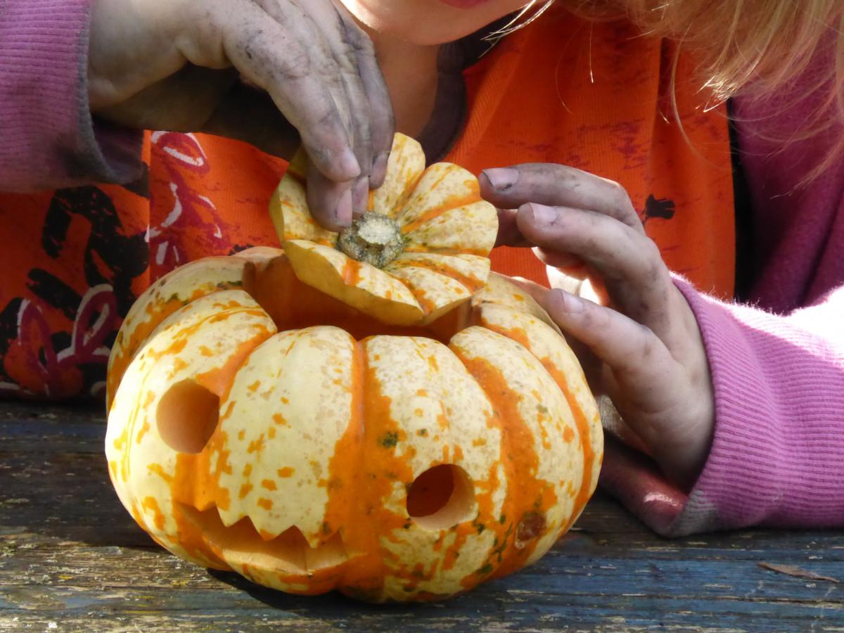 Halloween Eten Kinderen.Gratis Afbeeldingen Meisje Spelen Eten Produceren