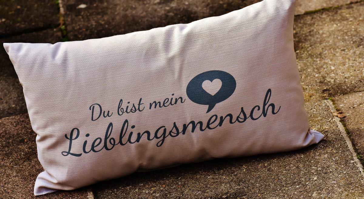 Liebe, romantisch, Möbel, Kissen, Material, Kissen, Textil-, Paar, Grußkarte, Valentinstag, Lieblingsperson