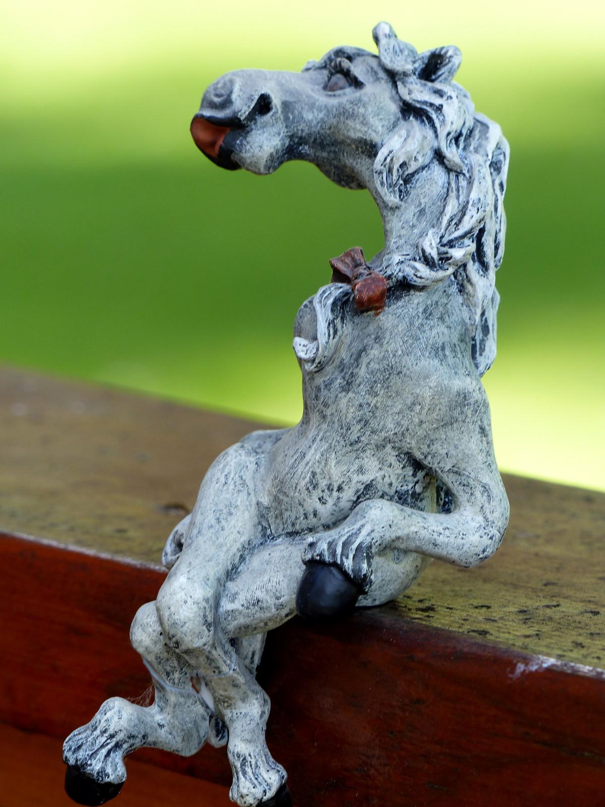 Free Images : Animal, Stone, Statue, Decoration, Stallion ...