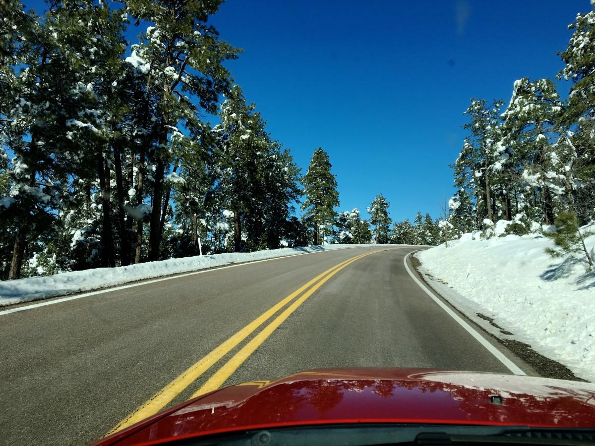 снег на дороге картинки годы предприятии
